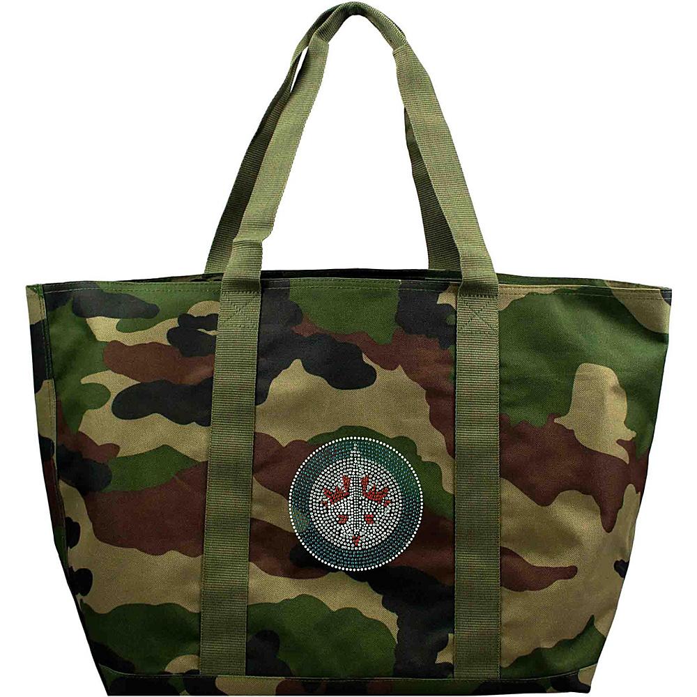 Littlearth Camo Tote - NHL Teams Winnipeg Jets - Littlearth Fabric Handbags - Handbags, Fabric Handbags