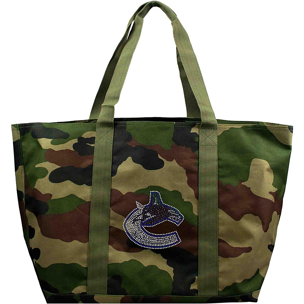 Littlearth Camo Tote - NHL Teams Vancouver Canucks - Littlearth Fabric Handbags - Handbags, Fabric Handbags