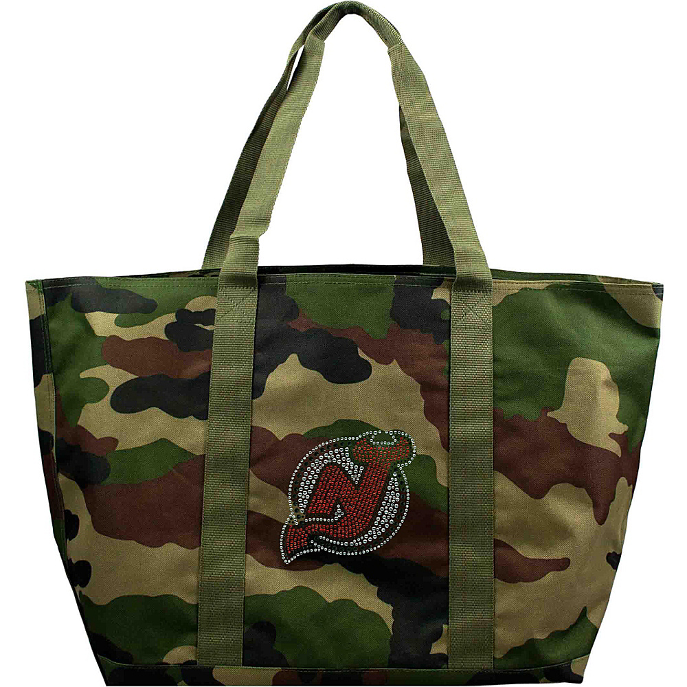 Littlearth Camo Tote - NHL Teams New Jersey Devils - Littlearth Fabric Handbags - Handbags, Fabric Handbags