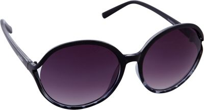 Laundry by Shelli Segal Sunglasses Oversized Round Sunglasses Black/Animal - Laundry by Shelli Segal Sunglasses Sunglasses