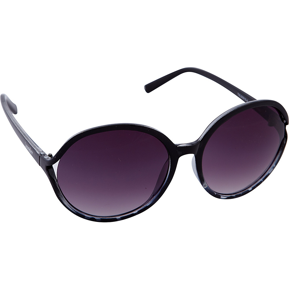 Laundry by Shelli Segal Sunglasses Oversized Round Sunglasses Black / Animal - Laundry by Shelli Segal Sunglasses Sunglasses