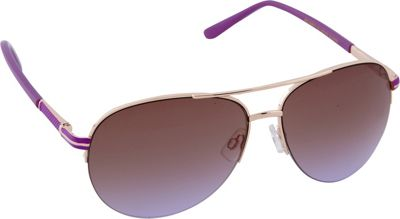 Laundry by Shelli Segal Sunglasses Laundry by Shelli Segal Sunglasses Semi Rimless Aviator Sunglasses Gold/Purple - Laundry by Shelli Segal Sunglasses Sunglasses