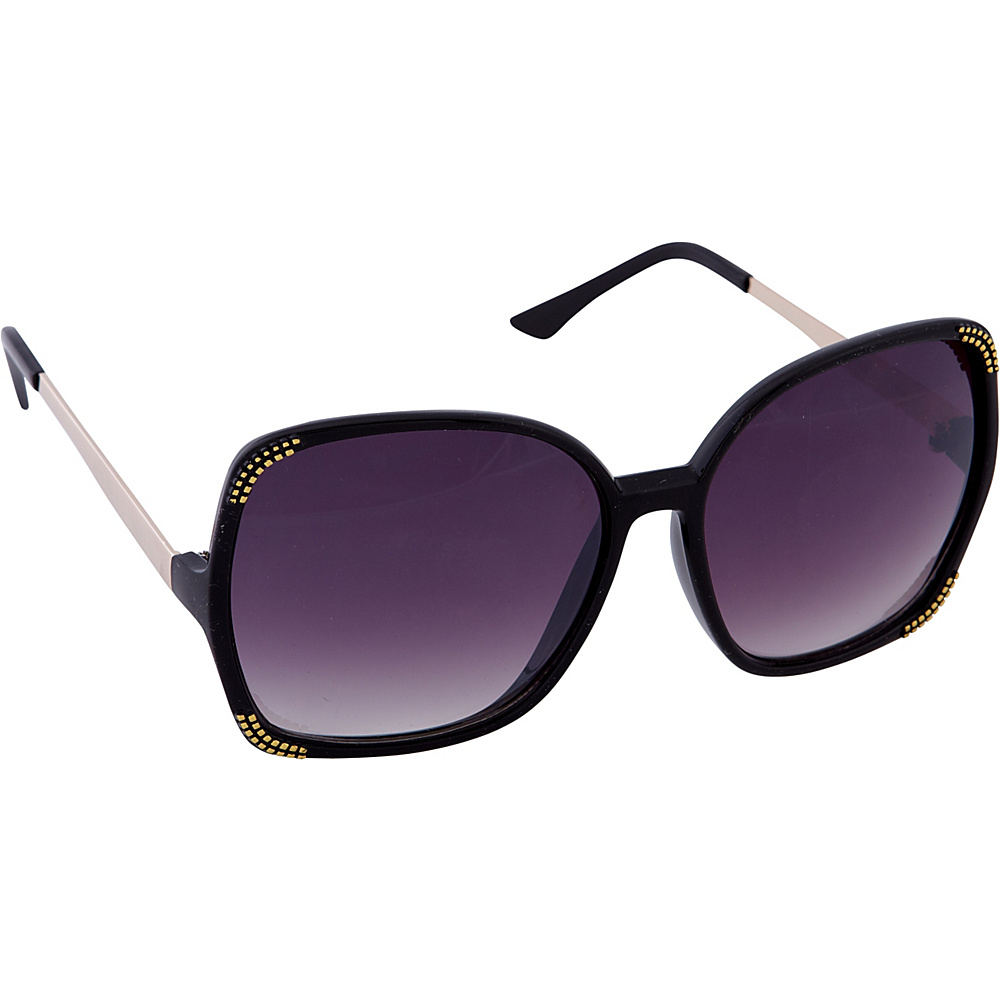 Laundry by Shelli Segal Sunglasses Oversized Glam Square Sunglasses Black - Laundry by Shelli Segal Sunglasses Sunglasses