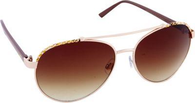 Nanette Nanette Lepore Sunglasses Combo Aviator Sunglasses Gold/Animal - Nanette Nanette Lepore Sunglasses Sunglasses