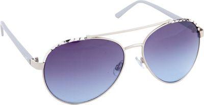 Nanette Nanette Lepore Sunglasses Combo Aviator Sunglasses Silver/Animal - Nanette Nanette Lepore Sunglasses Sunglasses