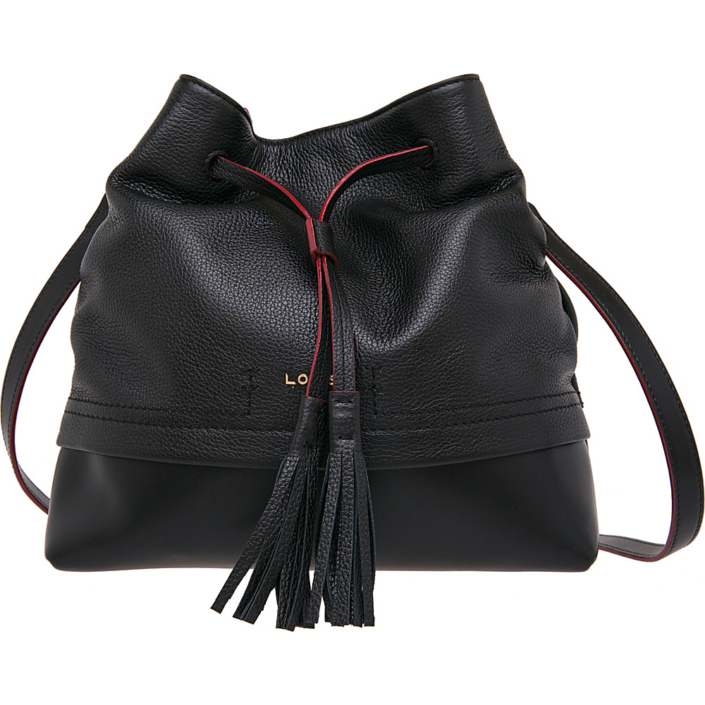 Lodis Kate Cara Convertible Drawstring Black - Lodis Leather Handbags - Handbags, Leather Handbags