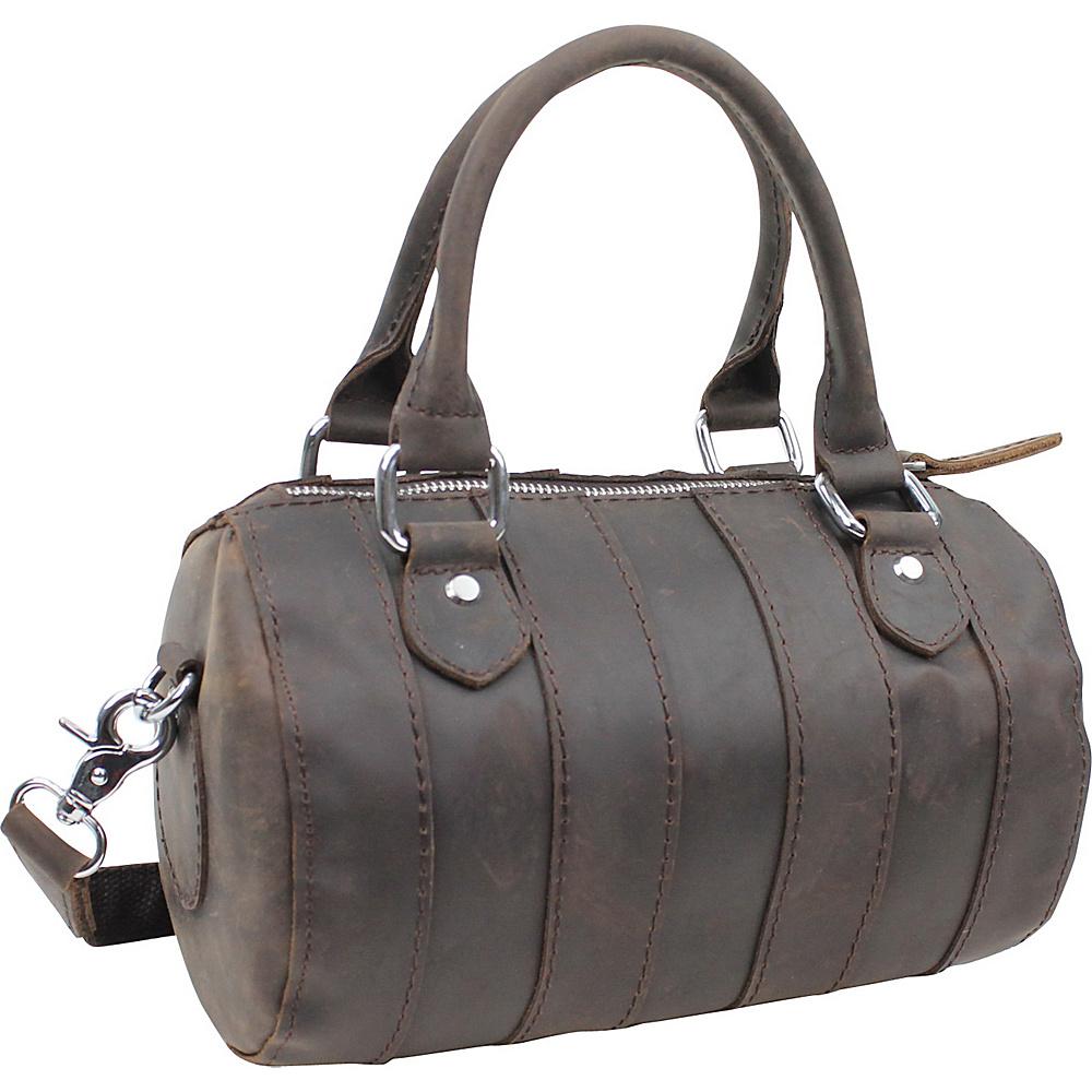 Vagabond Traveler Leather Mini Duffle Shoulder Bag Dark Brown - Vagabond Traveler Travel Duffels - Duffels, Travel Duffels