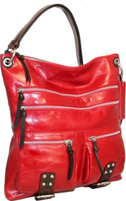 Image of Nino Bossi Say Hey Crossbody Red - Nino Bossi Leather Handbags