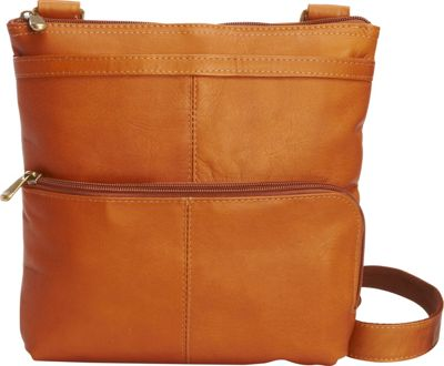 Image of Le Donne Leather Waterfall Crossbody Tan - Le Donne Leather Leather Handbags