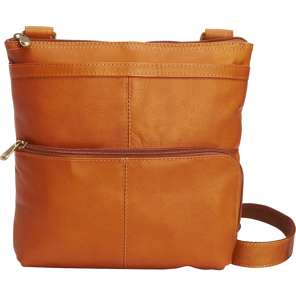 Le Donne Leather Waterfall Crossbody Tan - Le Donne Leather Leather Handbags - Handbags, Leather Handbags