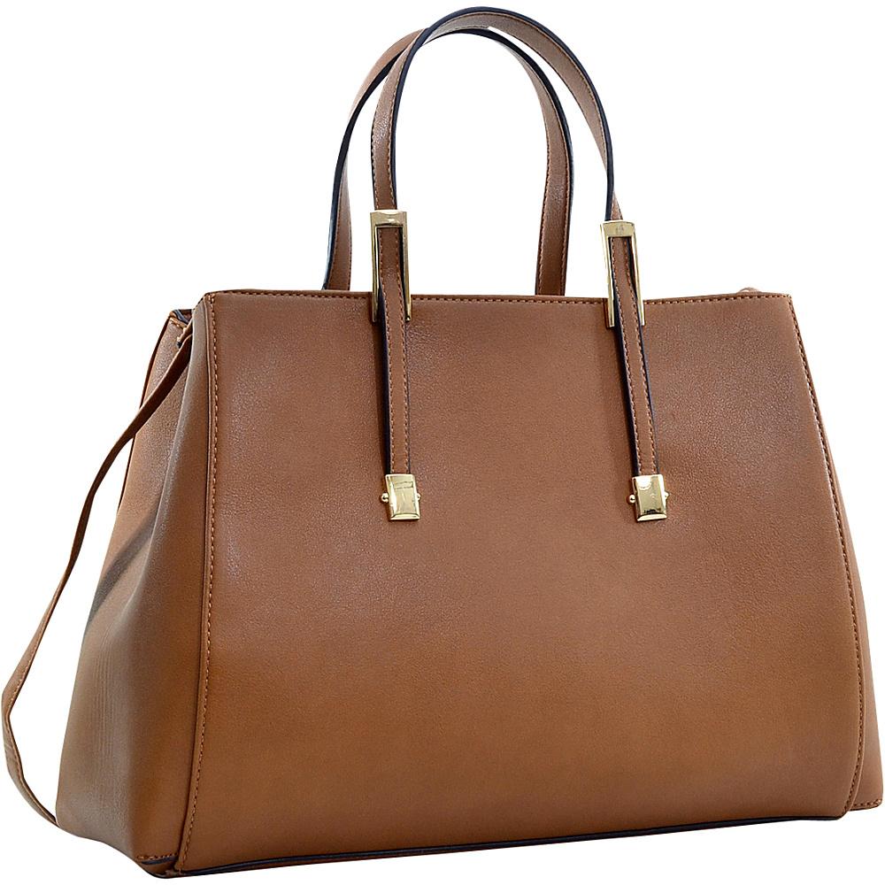 Dasein Briefcase Tote with Removable Shoulder Strap Coffee Dasein Manmade Handbags