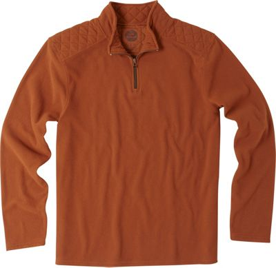 Life is good Mens Microfleece Pullover Rustic Copper - Small - Life is good Men's Apparel