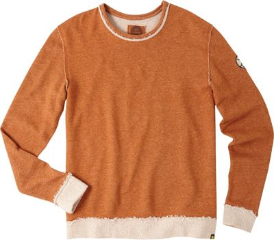 Life is good Mens L/S Terry Crew Shirt Rustic Copper - Extra Large - Life is good Men's Apparel
