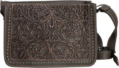 Montana West Tooled  Crossbody Black - Montana West Manmade Handbags