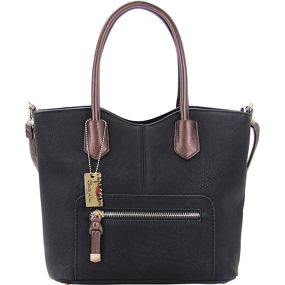 Chasse Wells Vie Facile Tote Black Chasse Wells Manmade Handbags