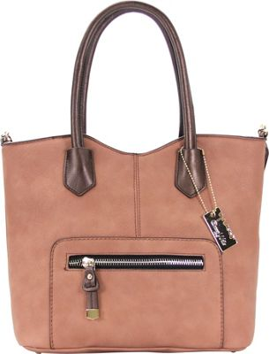 Chasse Wells Vie Facile Tote Brown - Chasse Wells Manmade Handbags
