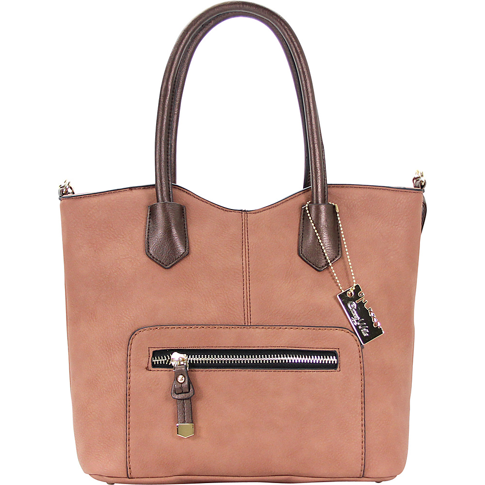 Chasse Wells Vie Facile Tote Brown Chasse Wells Manmade Handbags
