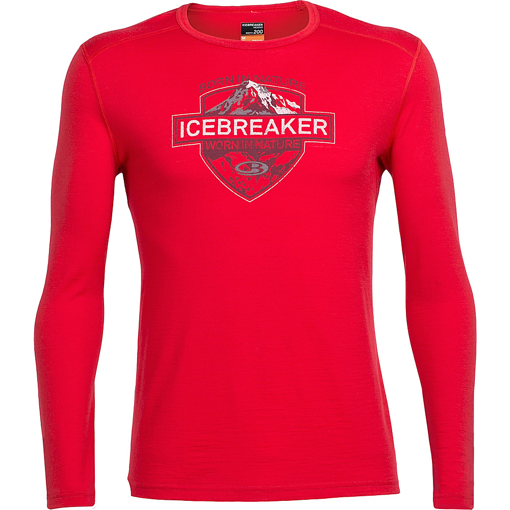 Icebreaker Men s Oasis LS Crew L Black Icebreaker Men s Apparel