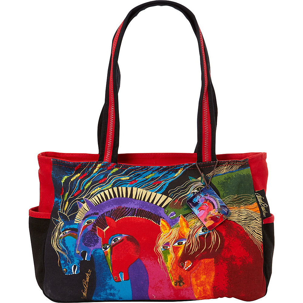 Laurel Burch Wild Horses of Fire Classic Tote Wild Horses of Fire - Laurel Burch Fabric Handbags