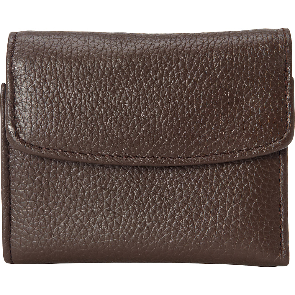 Buxton Hudson Pik-Me-Up Mini-Trifold Chocolate Brown - Buxton Womens Wallets - Women's SLG, Women's Wallets