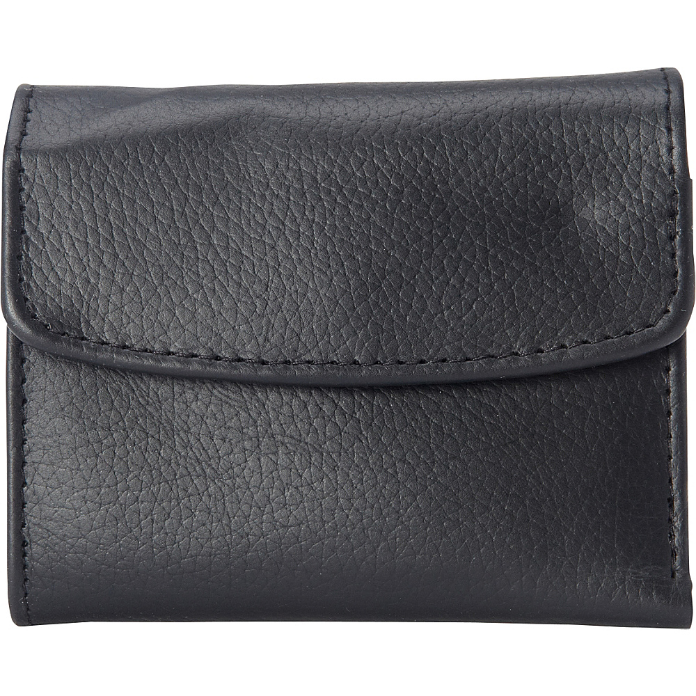 Buxton Hudson Pik-Me-Up Mini-Trifold Black - Buxton Womens Wallets - Women's SLG, Women's Wallets