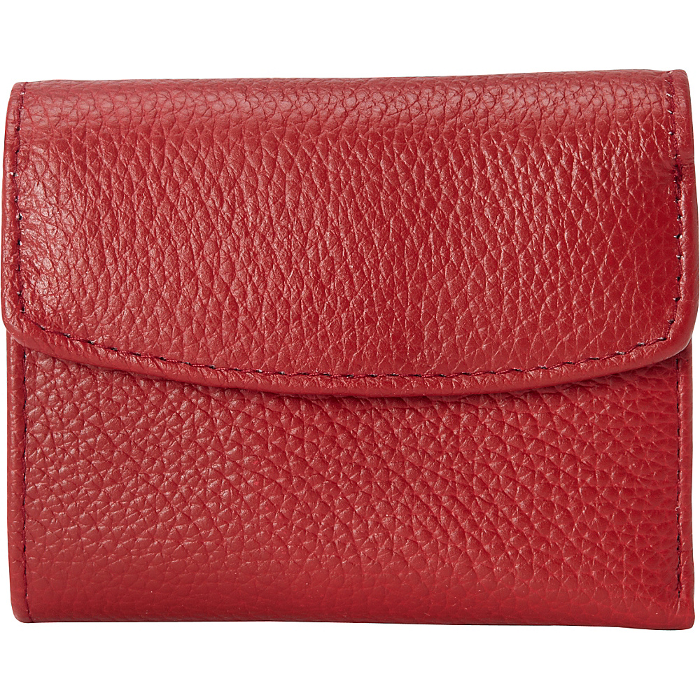 Buxton Hudson Pik-Me-Up Mini-Trifold Dark Red - Buxton Womens Wallets - Women's SLG, Women's Wallets