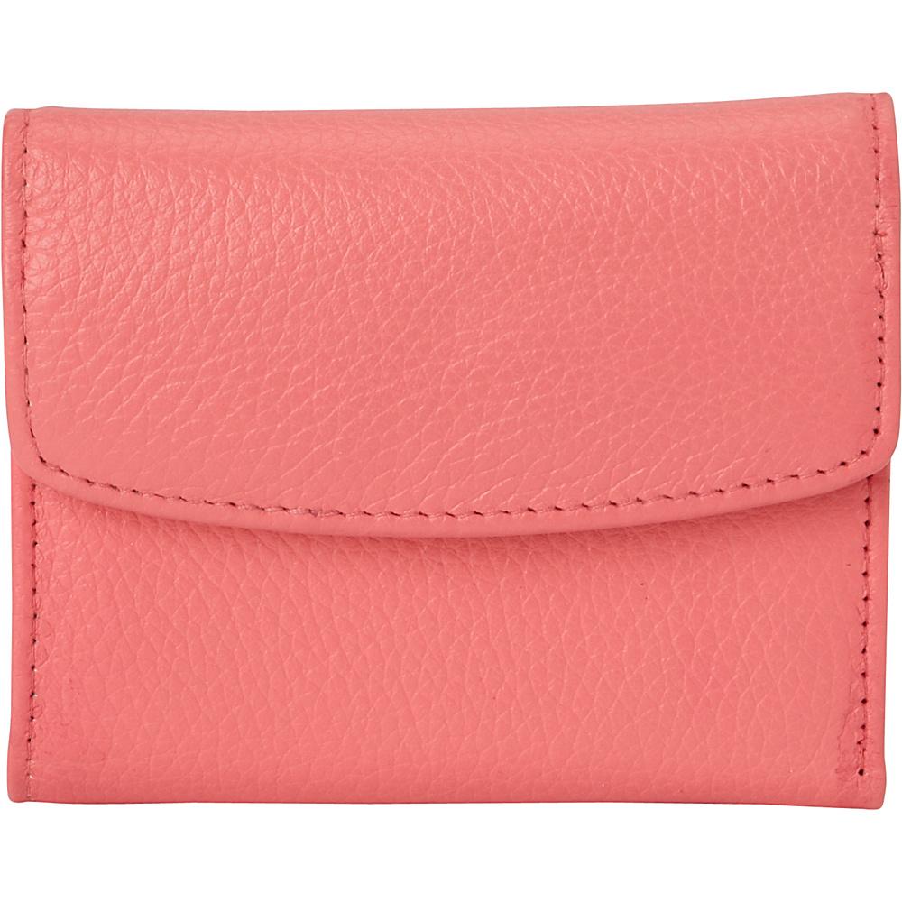 Buxton Hudson Pik-Me-Up Mini-Trifold Sugar Coral - Buxton Womens Wallets - Women's SLG, Women's Wallets