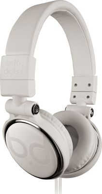 Image of Bell'O Digital 40mm Driver Over The Head Headphones Whites - Bell'O Digital Electronics