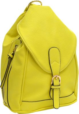 Dasein Classic Convertible Backpack Yellow - Dasein Leather Handbags
