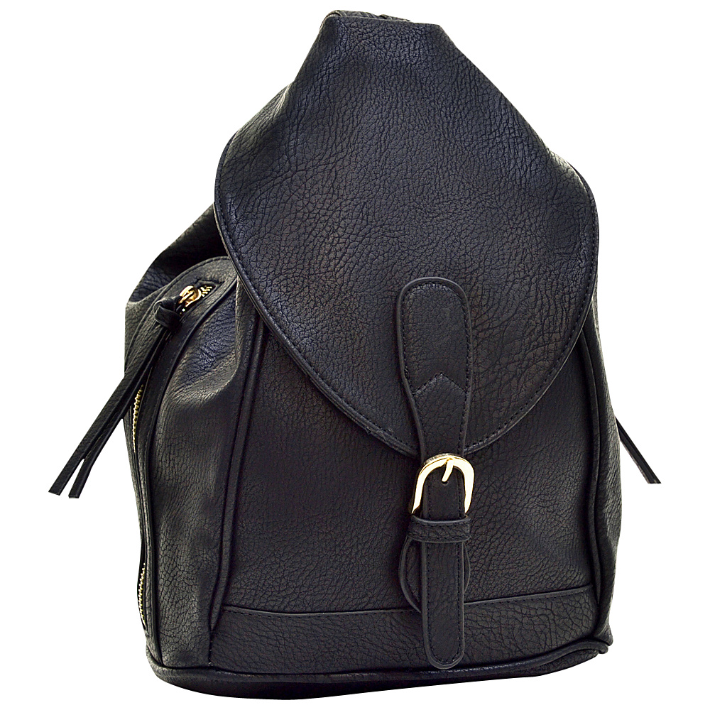 Dasein Classic Convertible Backpack Black - Dasein Leather Handbags - Handbags, Leather Handbags