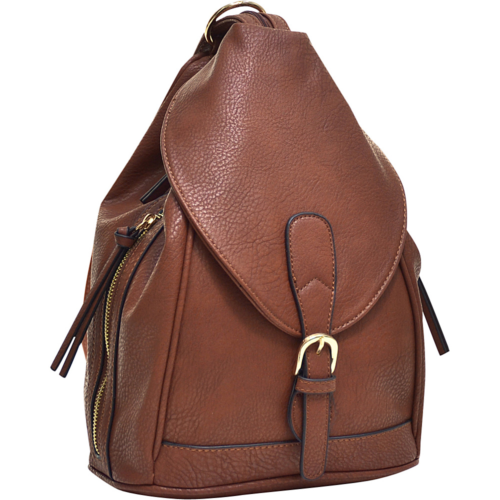 Dasein Classic Convertible Backpack Brown - Dasein Leather Handbags - Handbags, Leather Handbags