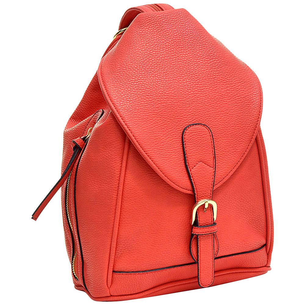 Dasein Classic Convertible Backpack Coral - Dasein Leather Handbags - Handbags, Leather Handbags