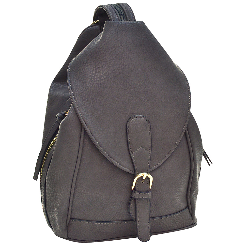 Dasein Classic Convertible Backpack Grey - Dasein Leather Handbags - Handbags, Leather Handbags