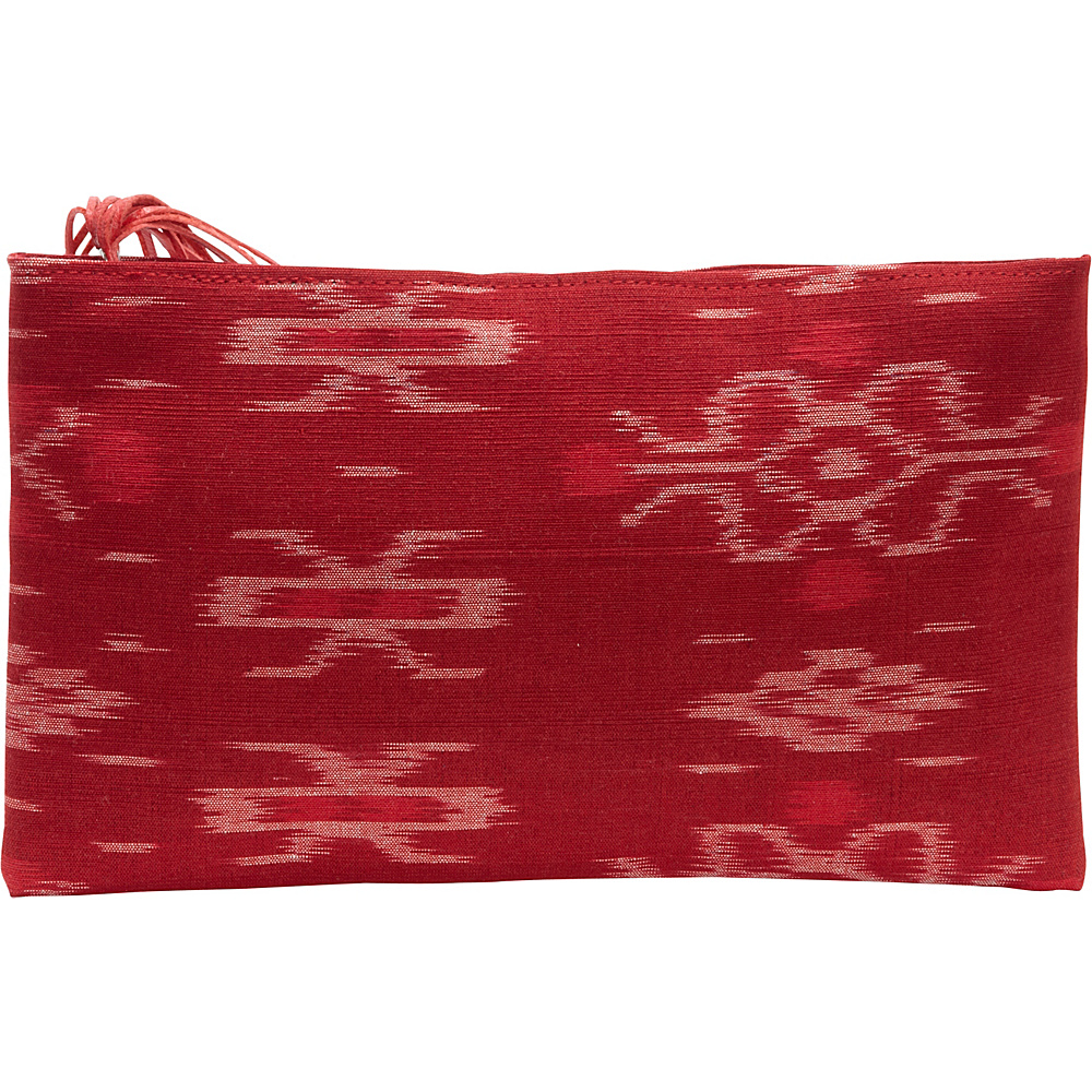 TLC you Ibu Clutch Red Natural TLC you Fabric Handbags