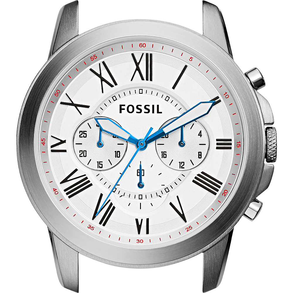 Fossil Grant Chronograph Stainless Steel Watch Case White - Fossil Watches - Fashion Accessories, Watches
