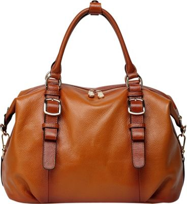 Vicenzo Leather Infinity Leather Satchel Brown - Vicenzo Leather Leather Handbags