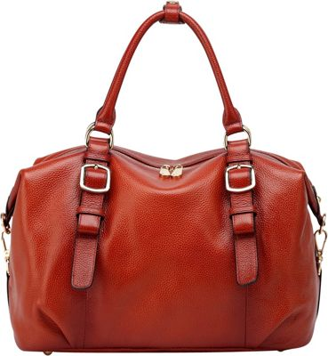 Vicenzo Leather Infinity Leather Satchel Red - Vicenzo Leather Leather Handbags