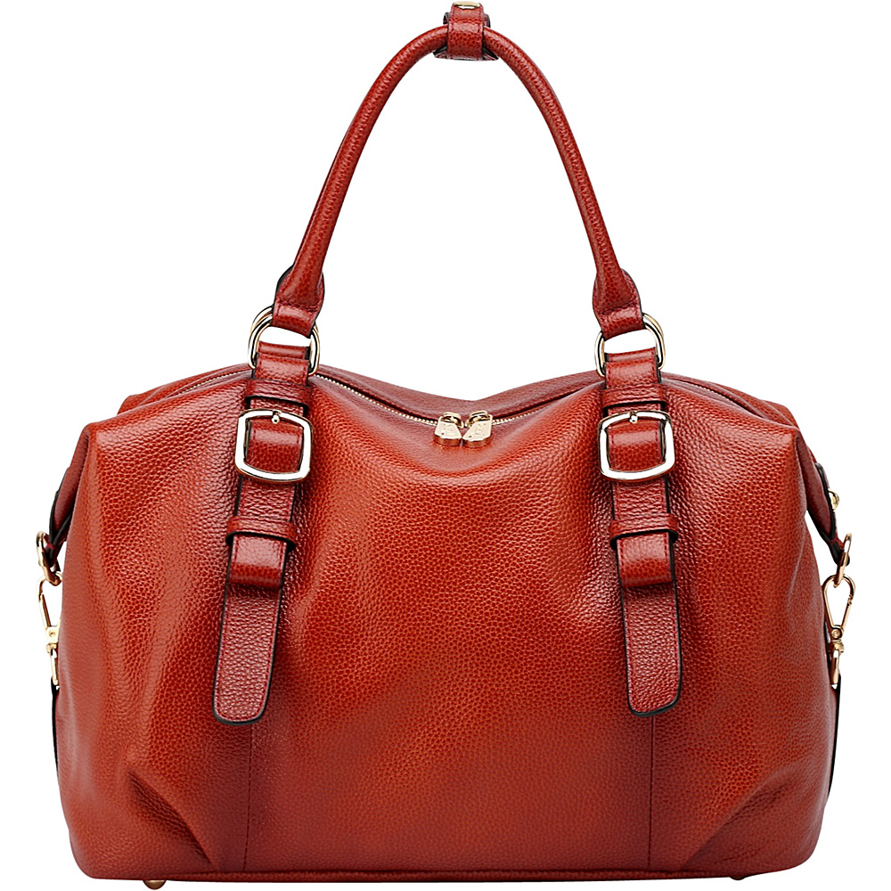 Vicenzo Leather Infinity Leather Satchel Red Vicenzo Leather Leather Handbags