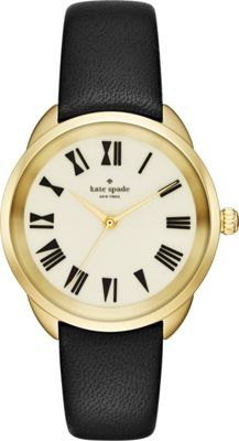 kate spade watches Leather Crosstown Watch Black - kate spade watches Watches