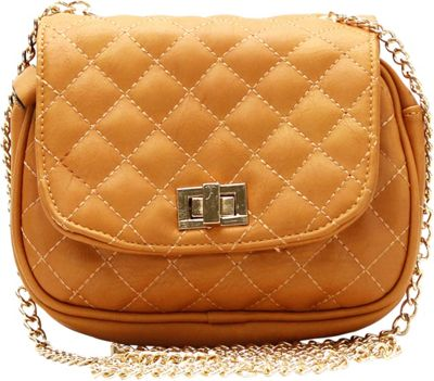 Royal Lizzy Couture La Vie Facile Cross-Body Bag Tan - Royal Lizzy Couture Manmade Handbags