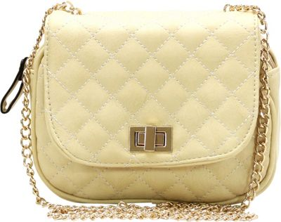 Royal Lizzy Couture La Vie Facile Cross-Body Bag Beige - Royal Lizzy Couture Manmade Handbags