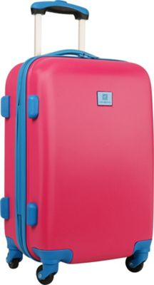 Anne Klein Luggage Palm Springs 20 inch Hardside Spinner Pink/Blue - Anne Klein Luggage Hardside Carry-On