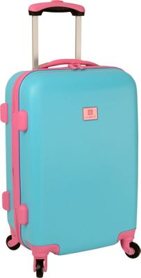 Anne Klein Luggage Palm Springs 20 inch Hardside Spinner Turquoise/Pink - Anne Klein Luggage Hardside Carry-On