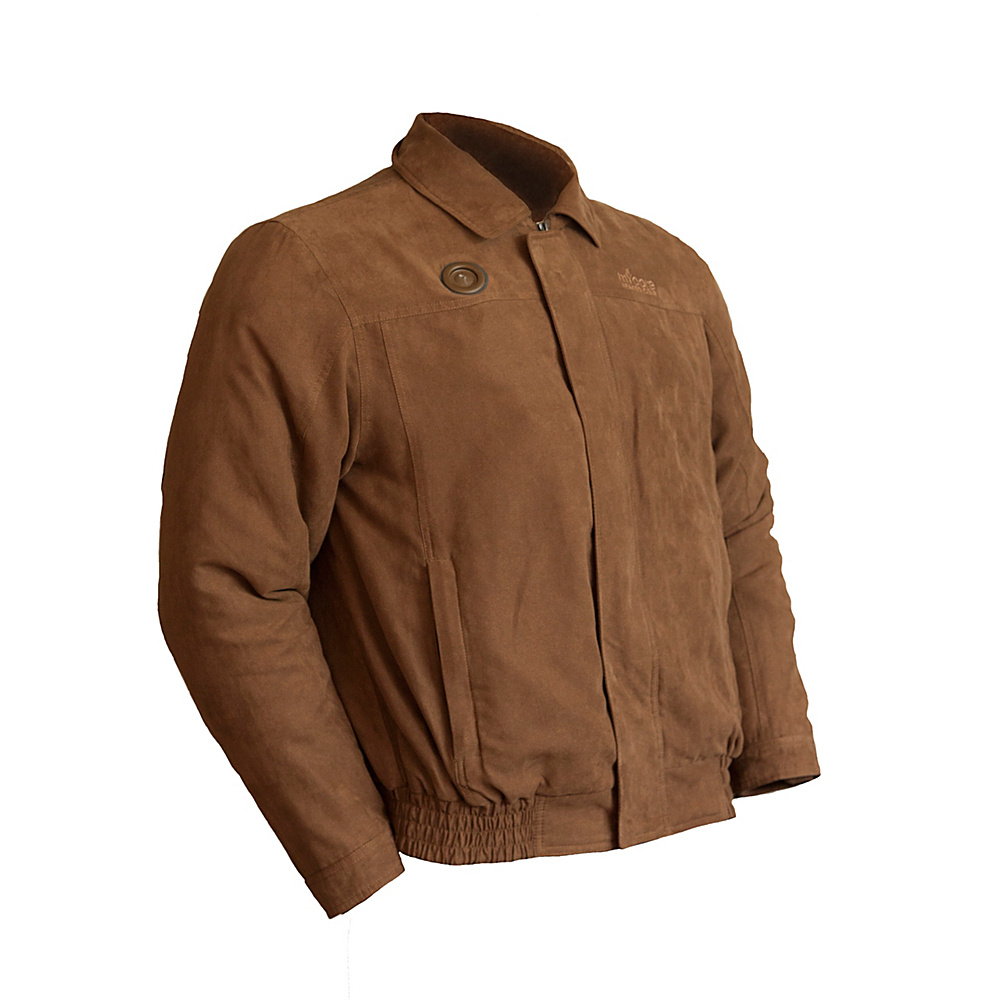 My Core Control Heated Bomber Jacket M Light Brown My Core Control Men s Apparel