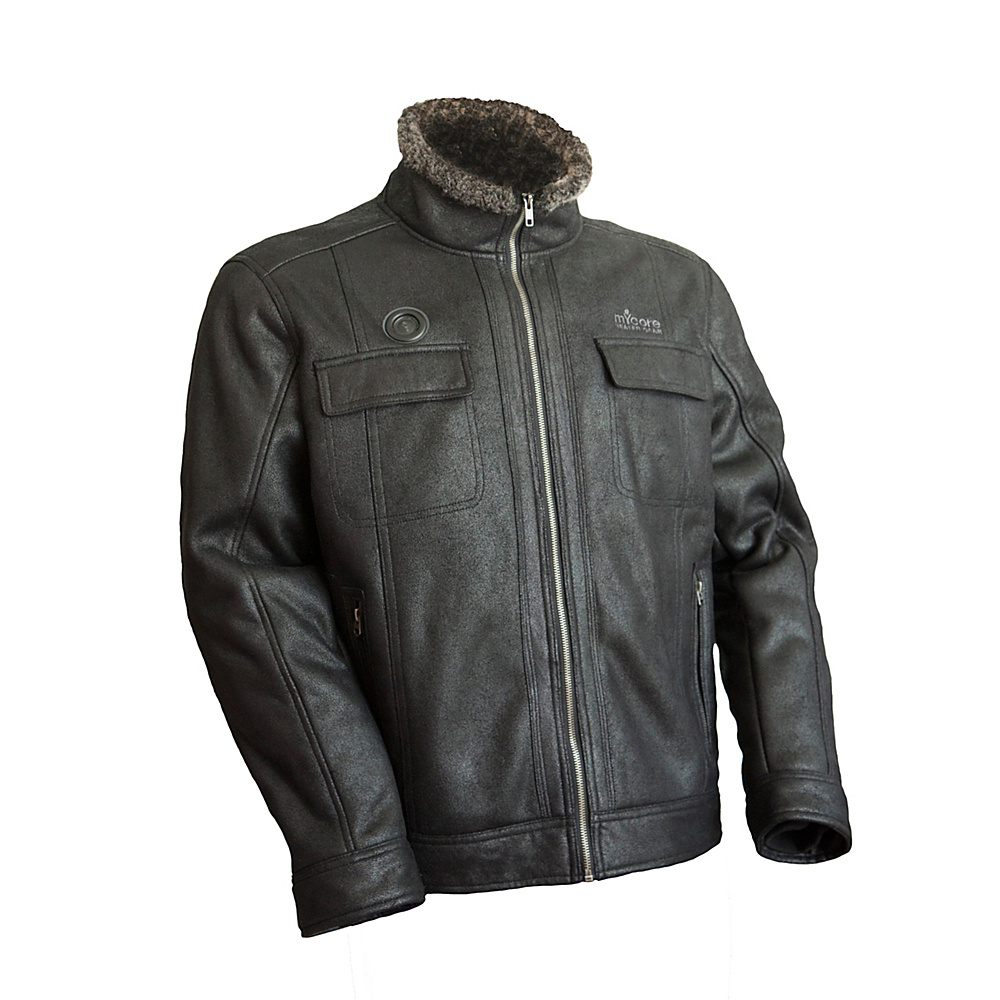 My Core Control Heated Bomber Jacket L Black My Core Control Men s Apparel