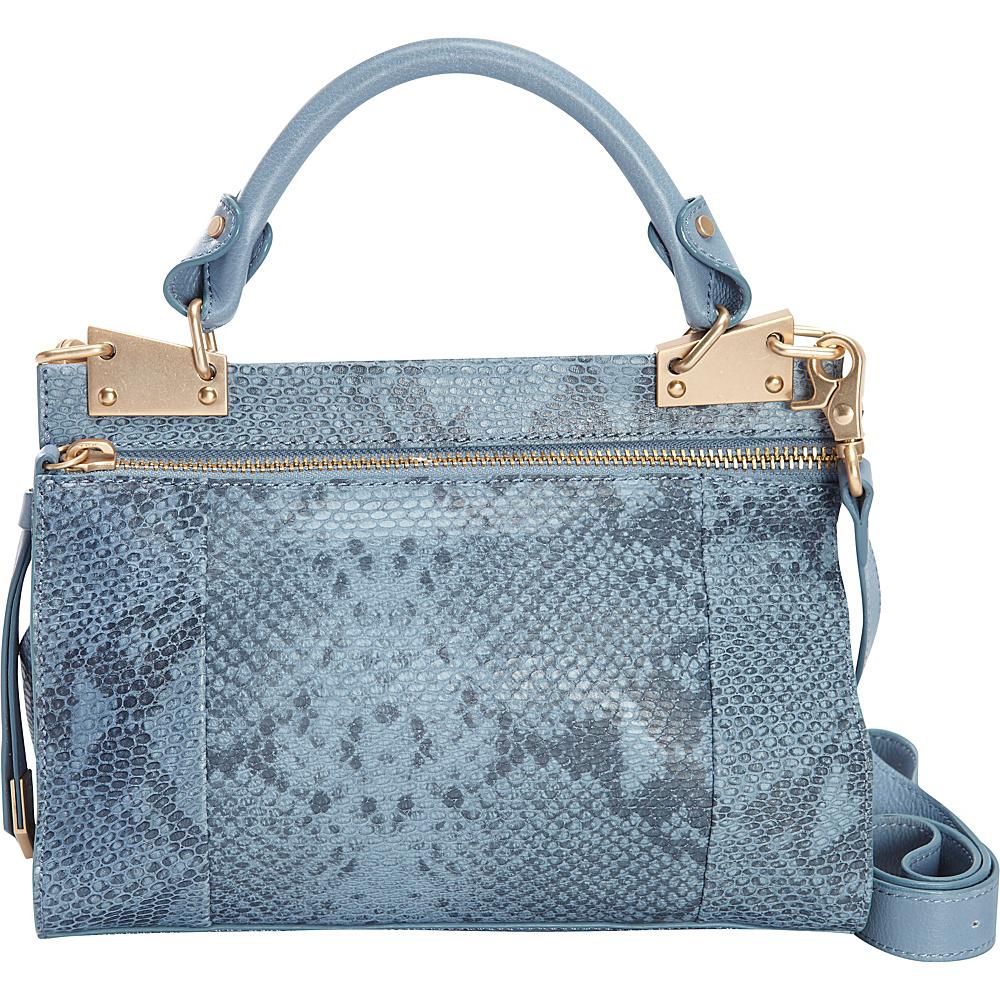 Foley Corinna Dione Cerberus Mini Messenger Azul Snake Foley Corinna Designer Handbags