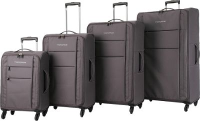 Triforce Aerea Collection Lightweight 4-piece Spinner Luggage Set Taupe - Triforce Luggage Sets