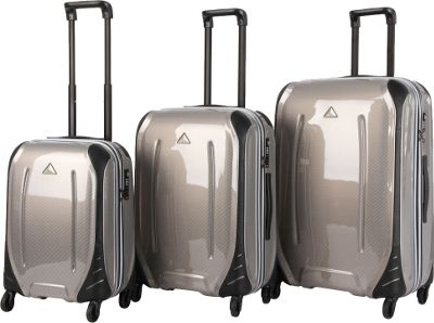 Triforce Empire Collection Hardside 3-piece Spinner Luggage Set Bronze Carbon - Triforce Luggage Sets