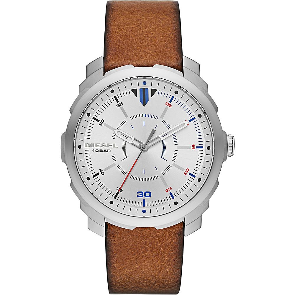 Diesel Watches Machinus NSBB Three Hand Leather Watch Brown - Diesel Watches Watches