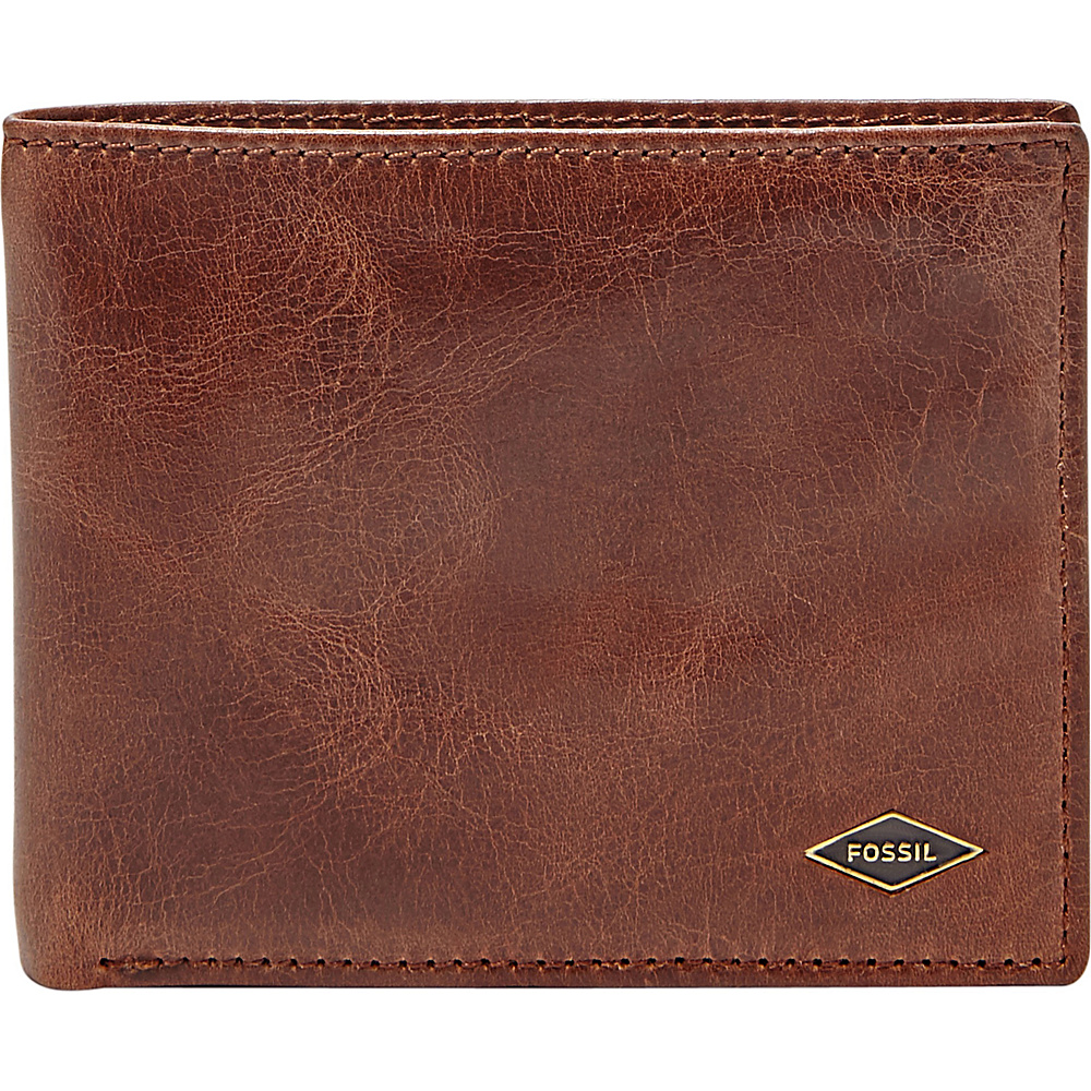 Fossil Ryan Flip ID Bifold Dark Brown - Fossil Mens Wallets - Work Bags & Briefcases, Men's Wallets